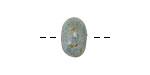 Gaea Ceramic Robin's Egg on Buff Rondelle 8-10x13-16mm