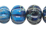 Midnight Blue Impression Jasper Graduated Pumpkin 10-20x14-25mm