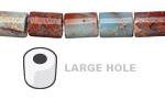 Impression Jasper Barrel (Large Hole) 10x8mm