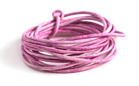 Weathered Rose Leather Cord 2mm