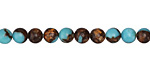 Synthetic Turquoise & Bronzite Round 6mm