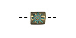 Zola Elements Patina Green Brass Tuscan Sun Large Hole Bead 10x9mm