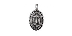 Zola Elements Antique Silver (plated) Southwest Concho Style Charm 10x19mm