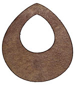 Lillypilly Golden Brown Leather Large Open Teardrop 49x54mm
