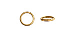 Nunn Design Antique Gold (plated) Hammered Edge Jump Ring 10mm