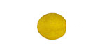 African Recycled Glass Yellow Tumbled Round (large hole) 10-14mm