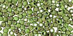 TOHO Frosted Opaque Mint Green Picasso Hybrid Round 6/0 Seed Bead