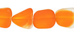 Tangerine Recycled Glass Flat Freeform 15x13-15mm