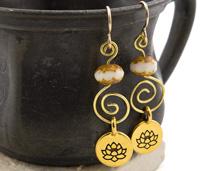 TierraCast Golden Lotus Earring Kit