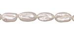 Pearly White Biwa Pearl 9-14x6-7mm