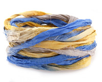 French Countryside 100% Silk Sari Ribbon
