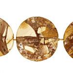 Peanut Wood Fossil Flat Freeform Slab 34-44x24-34mm