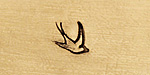 Swallow Metal Stamp 6mm