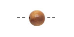 Tagua Nut Caramel Round 11-12mm