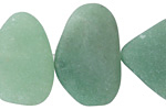 Green Aventurine (matte) Large Pebble 23-28x15-20mm