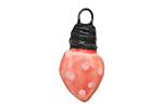 Gaea Ceramic Juju Cherry Polka Dot Small Bulb Charm