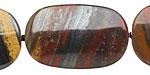 Tiger Iron Flat Freeform Oval 22-35x22mm