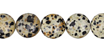 Dalmatian Jasper Puff Coin 12mm