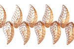 Sand AB Crystal Leaf Drop 8x18mm