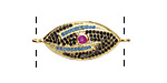 Galaxy Mix Pave CZ Gold (plated) Eye Focal Link 29x12mm
