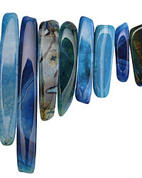 Sky Blue Line Agate Stick Graduated 9-10x25-70mm