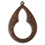 Vintaj Natural Brass Large Bohemian Teardrop 32x46mm