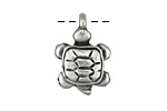 Greek Pewter Turtle Charm 16x24mm