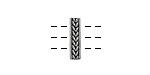 Pewter Braided 3-Hole Bar 4x15mm