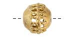 African Brass Braided Basket Rondelle 16-18x19-20mm