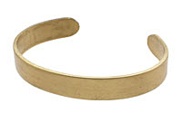 Brass Smooth Round Narrow Cuff 63x9mm