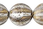 Birch w/ Speckles Porcelain Melon 27x24mm