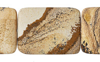 Picture Jasper (matte) Flat Rectangle 40x30mm