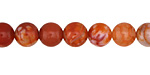 Orange Fire Agate Round 8mm