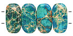 Turquoise Impression Jasper 2-Hole Rounded Rectangle 10x20mm