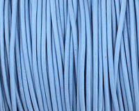 Sky Blue Round Leather Cord 1.5mm