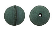 Natural Emerald Leather Round Bead 20-22mm