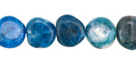 Pacific Blue Apatite Tumbled Nugget 9-13x8-11mm
