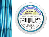 Artistic Wire Silver Plated Ice Blue 24 gauge, 15 yards
