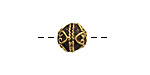 Greek Antique Gold (plated) Ornate Round 9mm