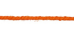Orange 3mm Hemp-Wrapped Wire