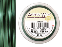 Artistic Wire Green 24 gauge, 20 yards