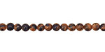 Gold & Blue Goldstone Round 4mm
