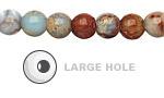 Impression Jasper Round (Large Hole) 8mm