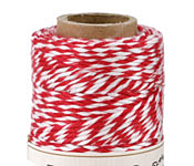 Red/White Bamboo Bakers Twine, 147.6ft