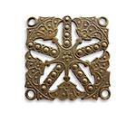 Vintaj Natural Brass Etruscan Kaleidoscope Pendant 32mm