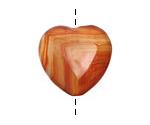 Carnelian Heart 25mm