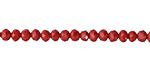 Red Coral Crystal Faceted Rondelle 4mm