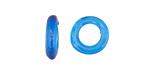 African Recycled Glass Capri Blue Dogun Mini Ring 10-14mm
