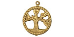 Brass Tree of Life Pendant 20x24mm