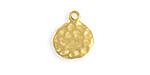 Vintaj 10K Gold (plated) Hammered Circle 13x15mm